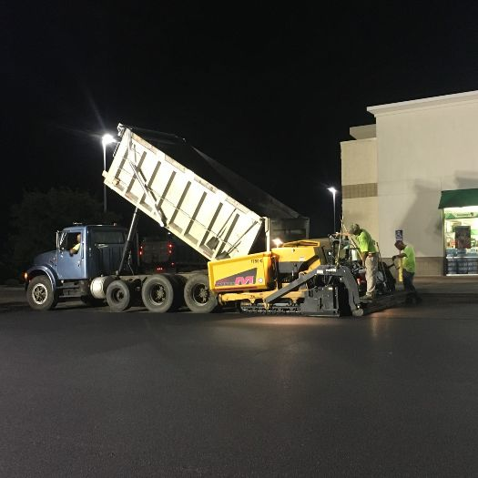 our work, shopping center, parking lot, sealcoating, mcbpaving